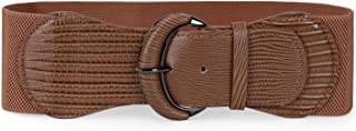 Women Stretchy Wide Waist Belt for Dress Ladies Elastic Belt Hook Buckle