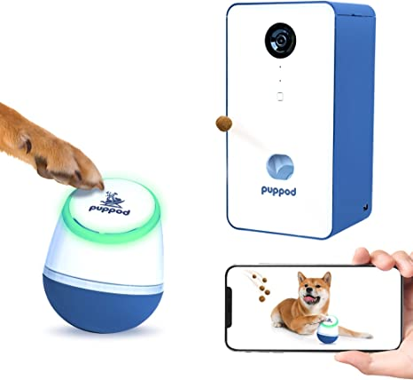 Amazon.com: PupPod Rocker Training Treat Tossing Camera Dispenser & Puzzle  Dog Toy – Dispenses Dog Treats – Puppy Treat Game – Electronic Pet Training  Tool for Use with Smartphones: Kitchen & Dining