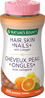 Nature's Bounty Hair Skin And Nails, Contains Biotin And Collagen, Helps Maintain Health Of Normal Hair And Skin, 165 Gummies