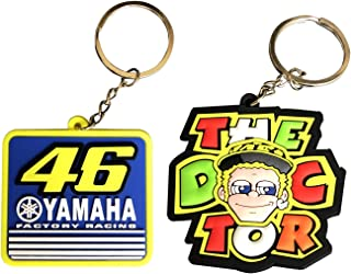LLAP Valentino Rossi 46 Keychains for Yamaha Motorcycle keyholders Key Rings (2packs)