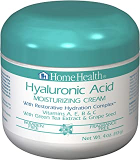 Home Health Hyaluronic Acid Moisturizing Cream With Restorative Hydration Complex - 4 oz - Firming & Moisturizing, Reduces Appearance of Fine Lines - Paraben-Free, Fragrance-Free, Vegan