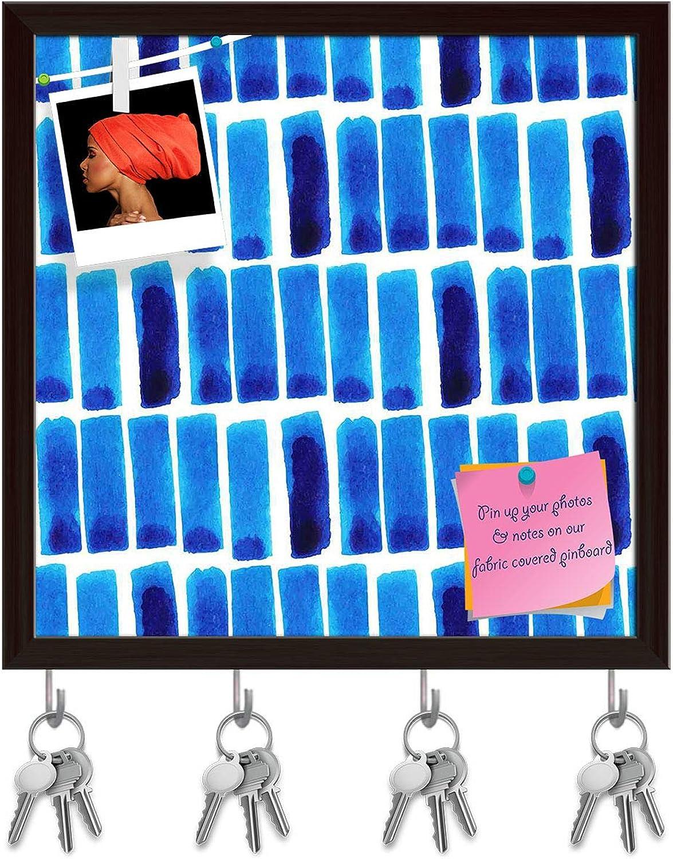Artzfolio Backdrop Ink Key Holder Hooks   Notice Pin Board   Dark Brown Frame 20 X 20Inch