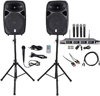 "Rockville Dual 15"" iphone/ipad/Android/Laptop,TV Youtube Karaoke Machine/System"
