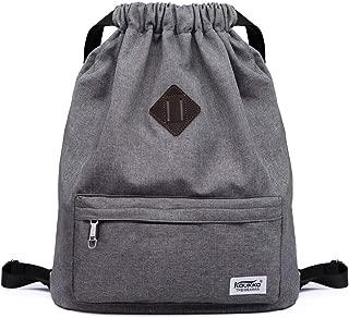 Drawstring Bags Sports Backpack Gym Yoga Sackpack Lightweight Shoulder Rucksack for Men and Women (Drawstring Bags Dark Grey)