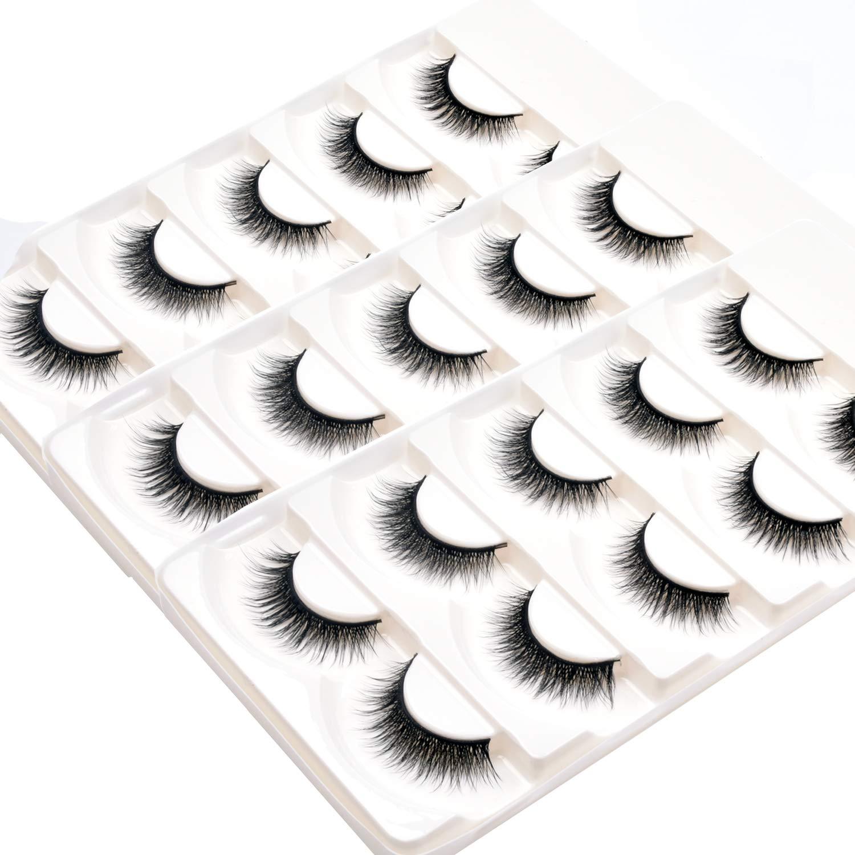 Wleec Beauty 3D Silk Eyelashes Eyelash Ranking TOP12 False Handmade Max 49% OFF Pack Natur