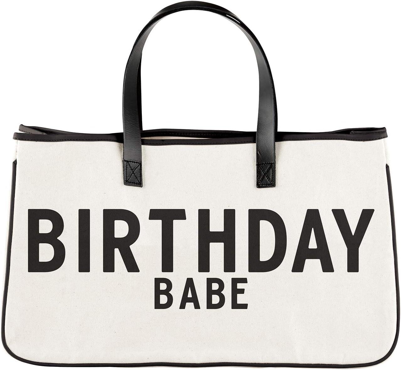 Santa Barbara Design Studio Hold Everything Canvas Tote, Large, Birthday Babe
