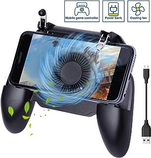 comprar comparacion HEYSTOP Controlador de Juego Móvil, Mando Movil PUBG Portátil con Banco de Energía y Ventilador de Enfriamiento, Sensible ...