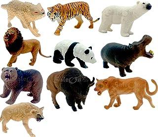 SaleOn Set of 10 Big Size Wild-Life Animal Children Education Gift Mini Jungle Animals Toy Set Animal Figures Toys for Kid