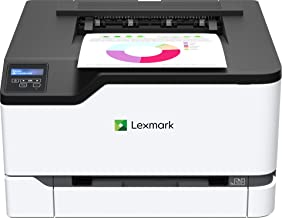 Lexmark C3326dw Color Laser Printer with Wireless Capabilities, Standard Two-Sided Printing, Two Line LCD Screen with Full-Spectrum Security and Prints Up to 26 ppm (40N9010)