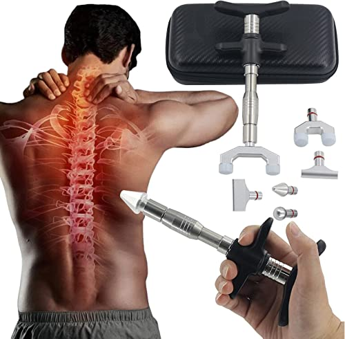 new arrival RiamxwR 6 Levels Manual Forth Heads Spinal Massager Portable Chiropractic Adjustment Kit Spine lowest Therapy Back Massage Tool Manual Spine Activator Chiropractic online sale Fitness Tissue Massager for Sore Muscle online sale