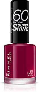 Rimmel London 60 Seconds Super Shine Esmalte de Uñas 320 - Rapid Ruby