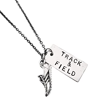 Sport jewelry Track and field necklace for men Gifts for athletes Sterling silver necklace