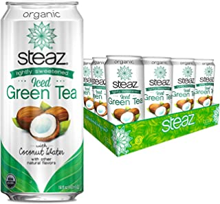 Steaz - Lightly Sweetened Iced Green Tea With Coconut Water - 12 Can(s)