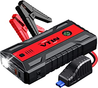 VTIN 1200A Car Jump Starter, New Design Strong Power 12 V Battery Booster (Up to 8.0L Gas, 6.0L Diesel Engine), Portable Power Pack with Intelligent Cables, USB Quick Charge 3.0, Type-C Port