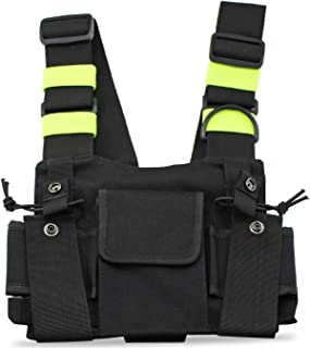 abcGoodefg Radio Chest Harness Chest Front Pack Pouch Holster Vest Rig for Two Way Radio..