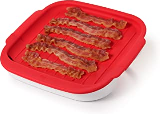 OXO 11185700 Cooker Good Grips Microwave Bacon Crisper, One Size, Red