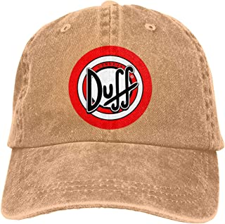Qmad Unisex The Simpsons Duff Beer Baseball Caps Adjustable Unstructured Caps
