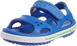 crocs Boy's Crocband II PS Sea Blue and White Rubber Sandals and Floaters