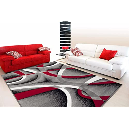 Black Grey Red Living Room Decor Amazon Com