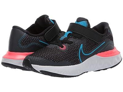 Nike Kids Renew Run (Little Kid) (Black/Light Lime/Smoke Grey) Kids Shoes
