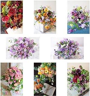ポストカード 花の写真 8枚(8種)+おまけ1枚 セット 花屋オリジナル 花 ブーケ 花束 絵葉書 アレンジメント POSTCARD おしゃれ 絵はがき (20-06-Set1-FB)