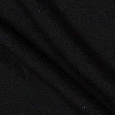 Robert Kaufman Kaufman Catalina Interlock Knit, Yard, Black