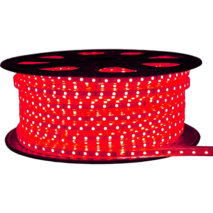 Brilliant Brand Lighting Red LED Strip Light - 120 Volt - High Output (SMD 3528) - 148 Feet