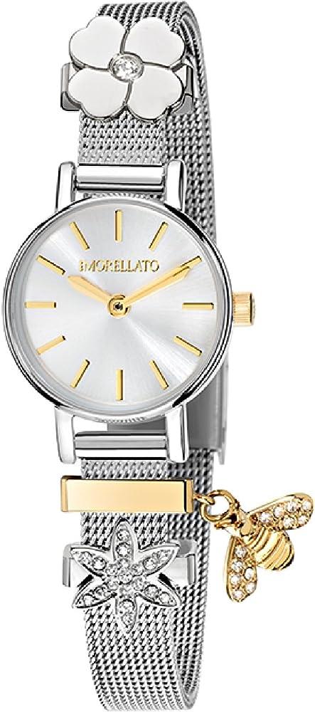 Morellato orologio analogico al quarzo per donna con cinturino in acciaio inossidabile R0153122576