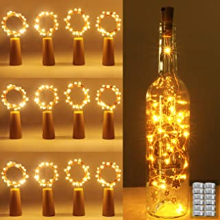 luz de Botella Kolpop luz Corcho luces led para Botellas de Vino 2m 20 LED a Pilas Decorativas Cobre Luz para Romántico ...