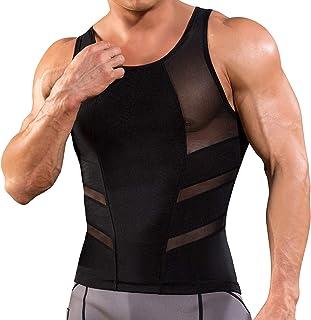 Gotoly Compression Shirt Men Undershirts Tank Top Slimming Vest Tight Body Shaper Tummy Control Underwear Waist Trimmer