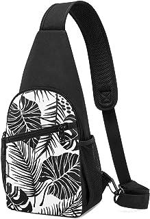 Abstracto creativo sin costuras, patrón con plantas tropicales, mochila ligera para el hombro, mochila cruzada, bolsas de ...