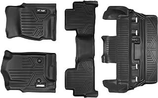 MAXFLOORMAT SMARTCOVERAGE Premium Floor Mats 3 Row Set Black for 2015-2018 Chevrolet Tahoe/GMC Yukon