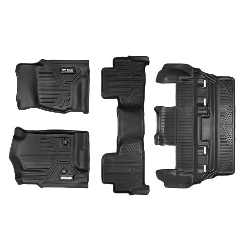 with 2nd Row Bucket Seats MAXLINER Floor Mats 3 Row Liner Set Black for 2015-2018 Chevrolet Suburban//GMC Yukon XL