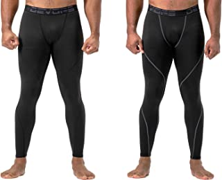 DEVOPS 2 Pack Men's Thermal Compression Pants, Underwear Long Johns Base Layer Tights