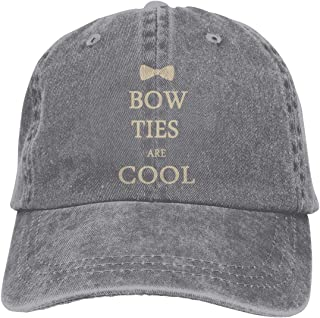 Doctor Who Bow Ties are Cool Adult Cowboy Hat Baseball Cap Adjustable Athletic Customized Awesome Hat