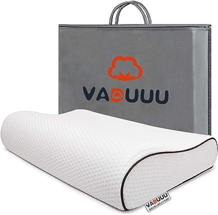 VADUUU 枕 低反発枕 人気 安眠マクラ 首・頭・肩をやさしく支える 健康枕 肩こり対策 いびき防止 頚椎サポート ヘルスケア枕 カバー付き 家族のプレゼント