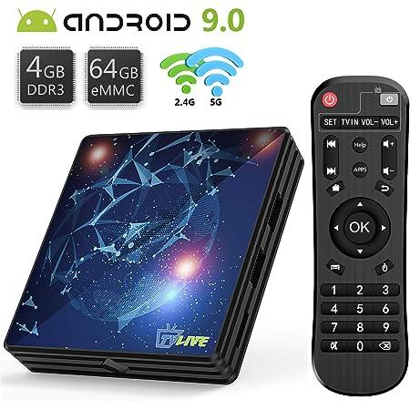 Android Tv Box 4g 64g Tv Live Smart Tv Box Amlogic S905x2 Quad Core 64 Bit 64bit Cortex A53 Unterstützt Wifi 2 4g 5 0g Bluetooth 4 1 4k Hd Usb 3 0 Hdmi 2 0a H 265 Smart Tv Box Android Box Amazon De Elektronik