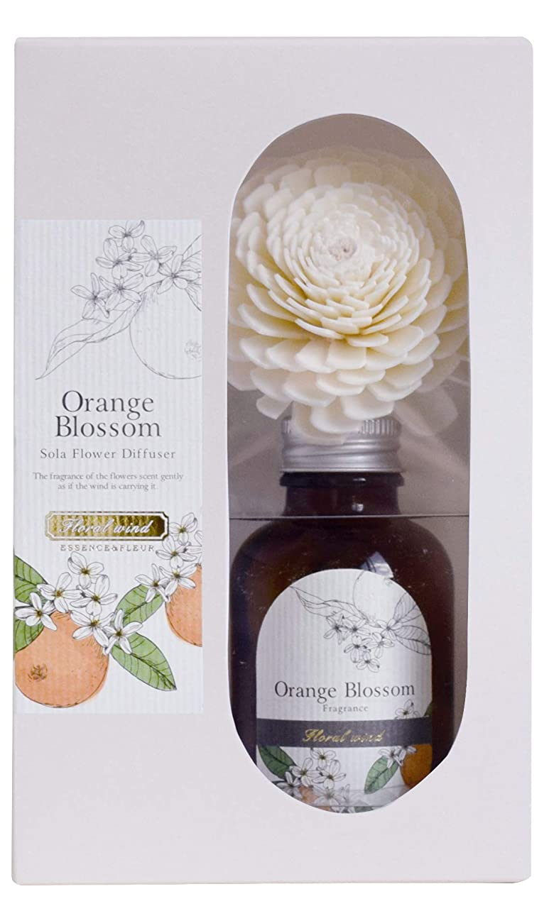 立方体高価なのぞき穴Floral wind ソラフラワーディフューザー オレンジブロッサム
