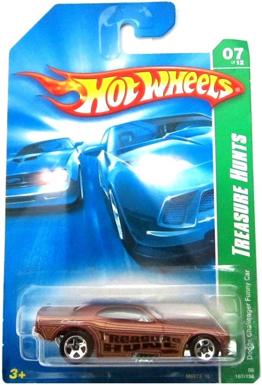 Dodge Challenger Funny Car '08 Hot Wheels Treasure Hunts 167 196 (Brown) Vehicle