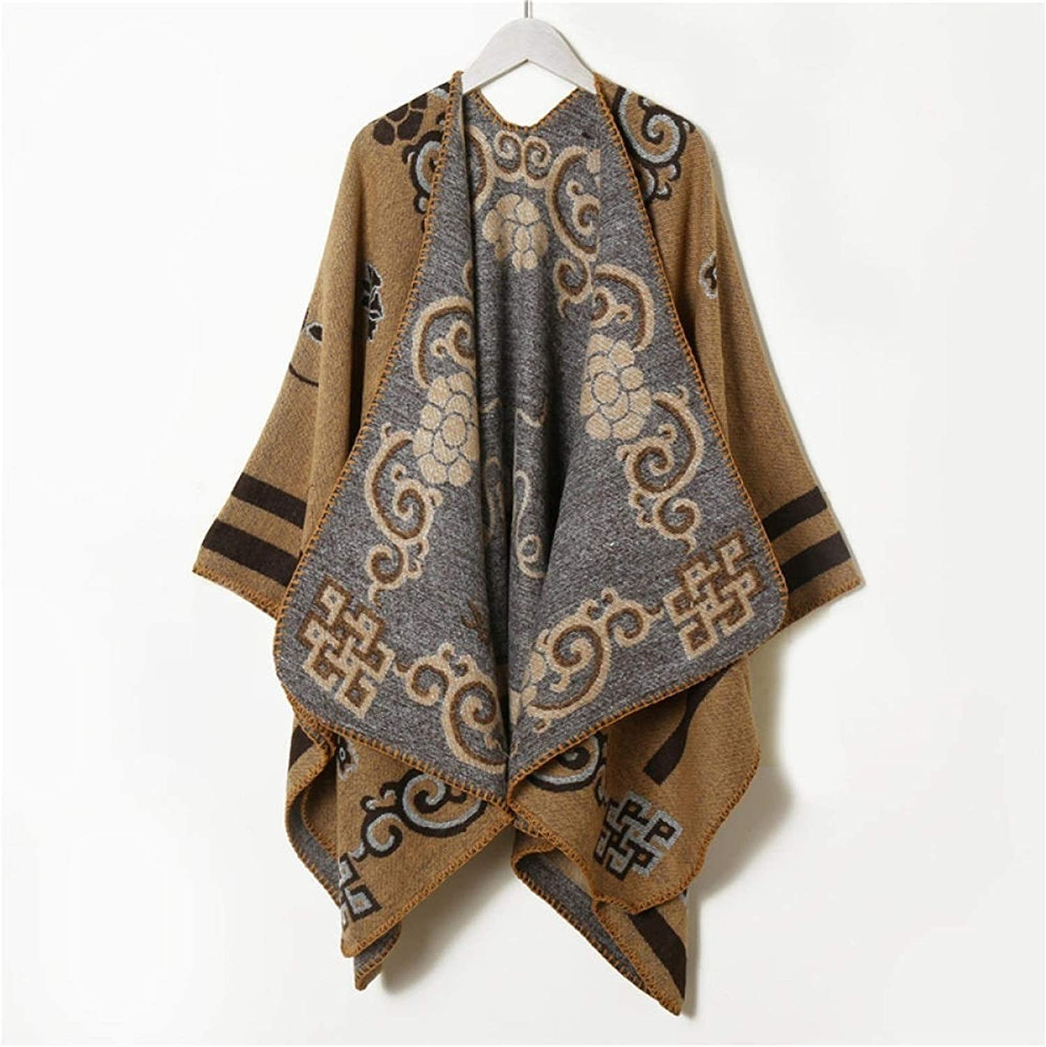 SYXMSM Scarf Women's Autumn and Winter New Wild Double-Sided Cashmere Thick Shawl Long Section Warm Bib (Color : 17, Size : 130150cm)