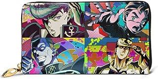 KJKT Hombres 's Jojo' S Bizarre Josuke Jotaro Koichi Okuyasu Anime Cartera Larga de Cuero Genuino
