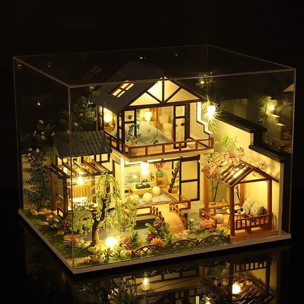San Antonio Mall Chinese Style Cottage Wooden Dollhouse Furnit with Year-end annual account Miniature Kit