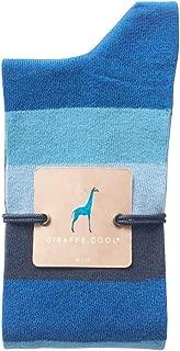 Giraffe Cool Calcetín para Hombre de Color Azules fanjas