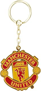 Manchester United FC Official Metal Football Crest Keyring