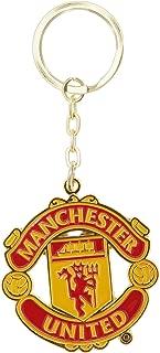 Manchester United FC Official Metal Soccer/Football Crest Keyring