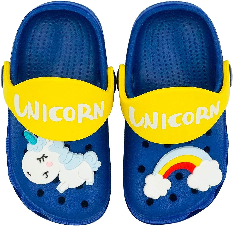 Non-Slip Girls Boys Clogs Slide Lightweight Garden Shoes Slip-on Beach Pool Shower Slippers Knemksplanet Toddler Little Kids Clogs Slippers Sandals