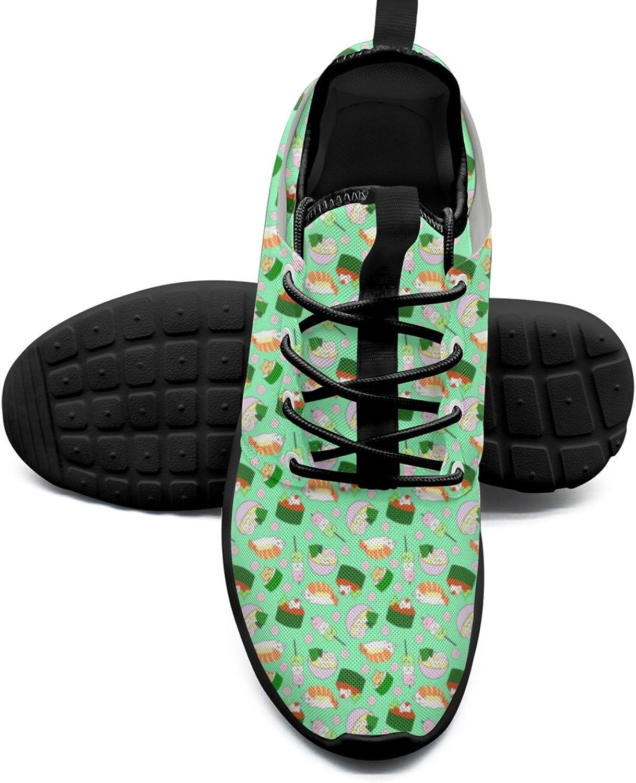 FAAERD Women's Fashion Lightweight Sneakers Fun Sushi Cat Rendy Walking shoes
