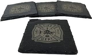 Fire Department/Firefighter Slate Coaster Set
