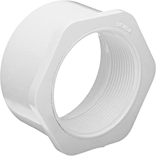 Spears 438 Series PVC Pipe Fitting, Bushing, Schedule 40, White, 4