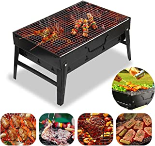 Portable Charcoal Grill Foldable Outdoor Grill Lightweight Small Barbecue Grill Suitable for Courtyard Garden Tools for Ou...